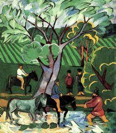Natalia Sergeevna (1881-1962) was een Russische avant-garde schilder. Nadat een aantal studenten waren verdreven uit de kunst opleiding wegens het nabootsen van de hedendaagse stijl van de Europese modernisme, Goncharova , Larionov, Robert Falk , Pjotr Kontsjalovski , Alexander Kuprin , Ilya Mashkov en anderen vormden Moskou's eerste radicale onafhankelijke groep, de Jack of Diamonds. Zij was een lid van de Der Blaue Reiter avant-garde groep uit de oprichting in 1911.- 1911