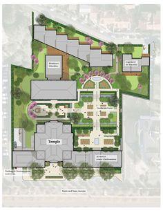 Temple Mormon Paris - Détails du projet du temple LDS    Cool layout image. So excited for this temple.
