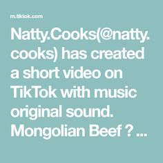 Natty.Cooks(@natty.cooks) has created a short video on TikTok with music original sound. Mongolian Beef 🥩 🍚 way better than PF Chang's I promise 🙌🏼☺️ #mongolianbeef #asian #easyrecipe #tiktokchef #cookfromhome #fypシ #pfchangs