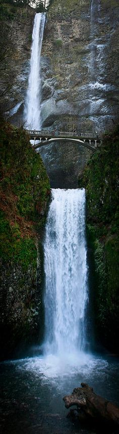Multnomah Fall, Oregon... I live in Oregon and have never been here... one day!