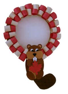 Get the kids involved by making this cute Canada Day beaver wreath!