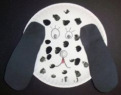 This dog is so easy to make and the kids love him. All they need to do is trace their foot on folded black paper so they get 2 ears. They glue it on a paper plate and draw the face. For the spots, the kids can paint black spots or use Do-a-Dot Markers for fun colored dots.