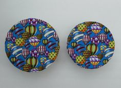 Hot Air Balloons Reusable Bowl or Plate Covers by bgreenbuyused