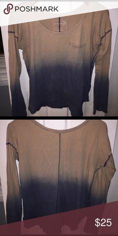 Free people long sleeve ombré tee shirt Ombré t shirt Free People Tops Tees - Long Sleeve
