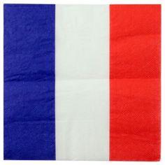 Serviette de table France drapeau Français les 20