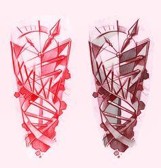 DNA / Clock Tattoo design by Antal Tamási @ Tyutyu Tattoo