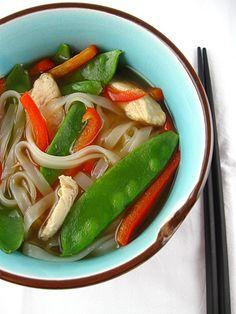 Chicken noodle soup, thai style
