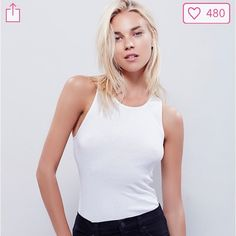 Free People Ribbed Tank Classic ribbed tank in white by Free People Intimately.  An essential basic for layering or by itself on those hot summer days!  Brand new with tags!  Size is xs/s. Free People Tops Tank Tops
