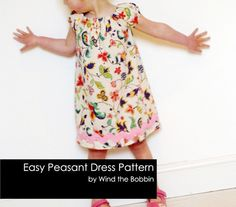 Peasant Dress Easy PDF Dress Pattern for Girls by bobbinsboutique, £4.95