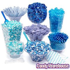 Just found Blue Candy Buffet Kit: 25 to 50 Guests (just an idea) Blue Candy Bars, Blue Candy Buffet, Candy Buffet Tables, Candy Table, Buffet Ideas, Dessert Tables, Dessert Bars, Bulk Candy, Candy Store