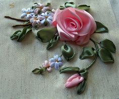 Folded ribbon roses tutorial