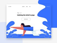Yoga - web ui concept designed by rohan rahian. Connect with them on Dribbble; Yoga Illustration, Flat Design Illustration, Web Design, Character Web, Yoga For Beginners Flexibility, Yoga Drawing, Ui Web, Landing Page Design, Design Reference