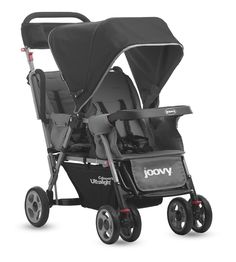 Joovy Caboose Too Ultralight Stroller weighs just over 21 pounds. It handles like a single but delivers like a double stroller.