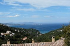 The view from town onto the Mediterranean Sea and northward along the Costa Brava.