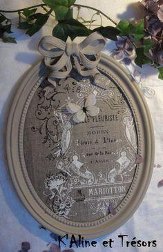 1000 id es sur le th me cadre ovale sur pinterest cadres - Customiser un miroir ancien ...