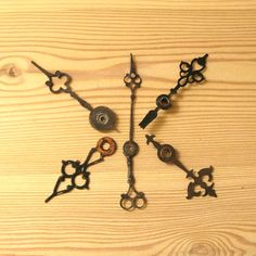 Wall Clock Hands, Antique Clock Parts, Large Clock Hands, Clock Movement Parts, Long Hands, Ornate Clock, Medieval Sword Style https://www.etsy.com/shop/MyBootSale
