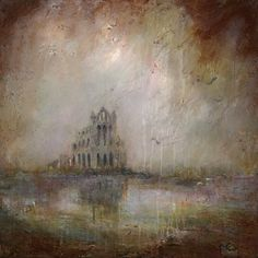 Limited Edition Giclee Print By Northeast Artist - Lisa House Mount included. Whitby Abbey, House Landscape, Giclee Print, Greeting Cards, America, Lisa, Artist, Painting, Landscapes