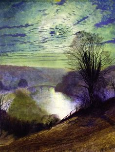 "John Atkinson Grimshaw    ""On the Tees, Near Barnard Castle"""