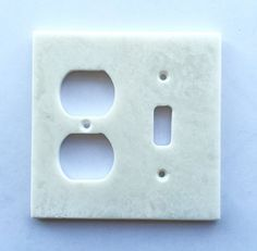 White Marble (Meram Blanc) Toggle Duplex Switch Wall Plate / Switch Plate / Cover - Polished