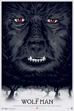 Mondo The Wolf Man Phantom City Creative Poster Universal Monsters Print | Own