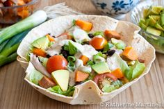 Southwestern Taco Salad with Skinny Chipotle Ranch Dressing