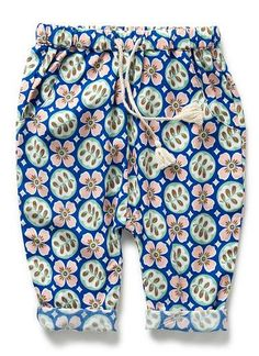 Baby Clothes Pants & Shorts | Bg Flower Print Pant | Seed Heritage