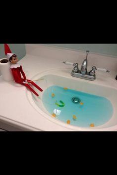 Elf.. Aww I wanna do elf on the shelf when I have kids! Looks so fun!