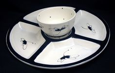 Platter. Dragonfly Veggie Tray. Vegetable. Tray. Dragonfly. Blue. Bowl. Plate. Handmade by Sara Hunter Designs by BySaraHunter