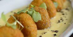 Croquetas de hongos y fondue de queso | Oleo Dixit | El Blog de gastronomía de Guía Oleo.