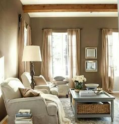 A rustic living room in warm tones These are my living room colors. A rustic living room in warm tones. Living Room Color Schemes, Living Room Colors, Cozy Living Rooms, My Living Room, Home And Living, Living Room Designs, Living Room Decor, Modern Living, Small Living