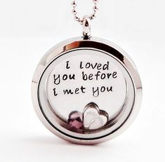 Living Locket, Memory Locket, Floating Locket  - Nice Quote!