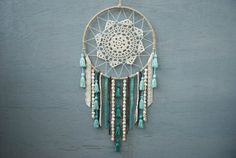 Tassels and Skulls Doily Dreamcatcher by catchingthesea on Etsy, $45.00