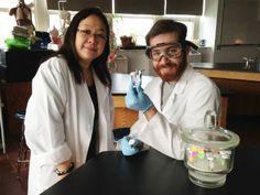depicted: Phillip Meade '14 and Professor Anna Cheung #biology #academics #mville