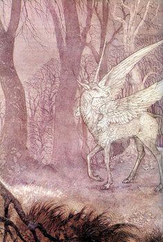 Unicorn by Roger & Linda Garland Pegasus, Fantasy Creatures, Mythical Creatures, Art Magique, Mythological Animals, Majestic Unicorn, The Last Unicorn, Unicorn Art, Faeries