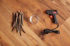 castiçal de outono - Aprenda a fazer um castiçal simples, fácil e lindo