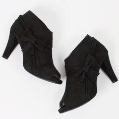 Selling this Black Peep Toe Booties - Sz 9 W in my Poshmark closet! My username is: woodsnap. #shopmycloset #poshmark #fashion #shopping #style #forsale #Lane Bryant #Shoes