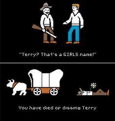 An Oregon Trail pun...love it.