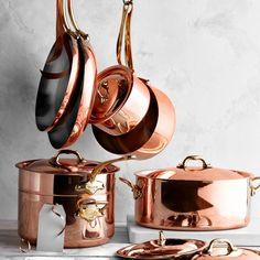 Williams Sonoma is the place to get top rated cookware and specialty cookware. Choose from a wide range of professional-quality pots and pans and cookware sets. Kitchen Utensils, Kitchen Gadgets, Kitchen Appliances, Kitchen Tools, Copper Utensils, Kitchen Storage, Kitchens, Gold Kitchen, Kitchen Decor