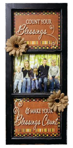 Crafts Direct Project Idea: Count Your Blessings 3 Panel Window