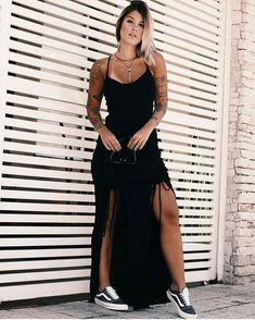 Cheap Summer Outfits, Trendy Outfits, Holiday Outfits, Feminine Style, Hippie Style, All Black, Ideias Fashion, Prom Dresses, Womens Fashion