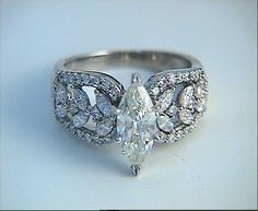 Engagement Ring 2.10ct Marquise Diamond Ring 18kt by blueriver47, $3,880.00