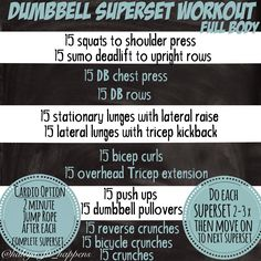Need a quick Full Body Workout before your New Years Eve Festivities begin? This entire workout is done with Dumbbells. Quick Full Body Workout, Full Body Dumbbell Workout, Boxing Workout, Workout Kettlebell, Full Body Strength Workout, Dumbbell Exercises, Workout Men, Workout Plans, Workout Routines