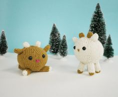 Teeter-Totter Reindeer, 2013 Mochimochi Land holiday pattern!