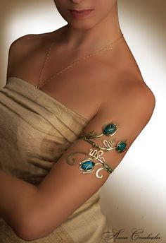 Upper arm wrap Tales Bazhov Cooper Jewelry.