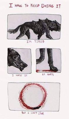 Tagged with comics, depression, creativity, anxiety, addiction; Waking up everyday dealing with anxiety and depression. Feral Heart, Canis, Bd Art, Art Tumblr, Illustration, Dark Art, Creepy, Cool Art, It Hurts