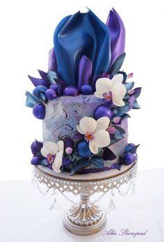 Алла Скоропад Pretty Cakes, Beautiful Cakes, Amazing Cakes, Birthday Cakes For Women, Happy Birthday Cakes, Purple Cakes, Modern Cakes, Cupcakes, Cake Business