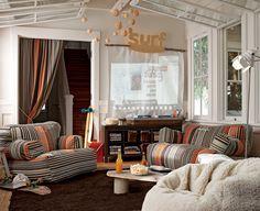 Derby Stripe Stuff-Your-Stuff Lounge | PBteen
