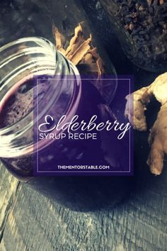 Simple Elderberry Syrup Recipe with most ingredients I already have stocked in my  kitchen. A much more affordable alternative to the pricey syrup sold in stores. Boosts immune system--must start taking daily.