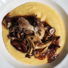 Wild Mushroom Polenta with Porcini Sauce