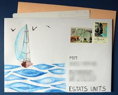 Mail Adventures: Outgoing Sailboats #snailmail #mailart #creativemail